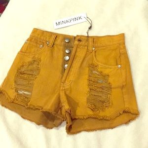 NWT MINKPINK high waist shorts